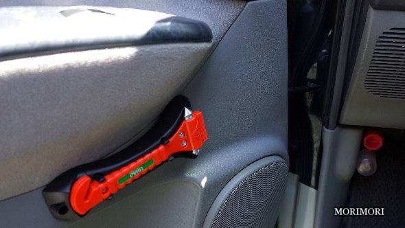 災害対策品 緊急脱出ハンマー+シートベルトカッター