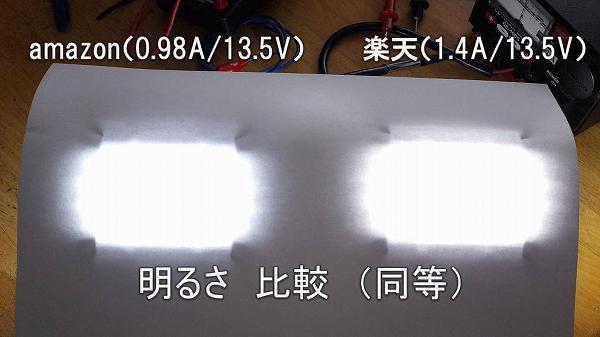 LEDワークライト(作業灯)明るさ比較